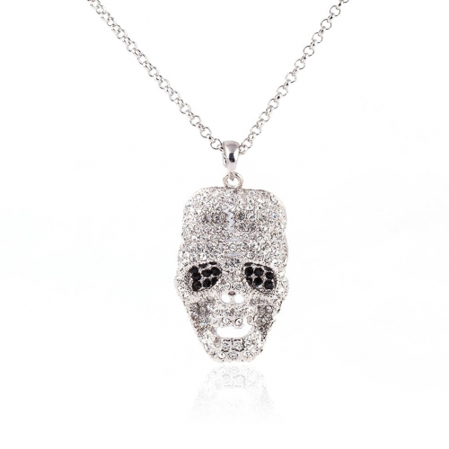 Outstanding Long Necklaces Punk Skull Pendant Chokers for Men's Women's Fashion Jewelry Accessories